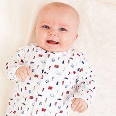 Little London Baby Sleepsuit | JoJo Maman Bebe