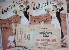 Art Deco / Art Nouveau Wedding Invitations   WED FEST