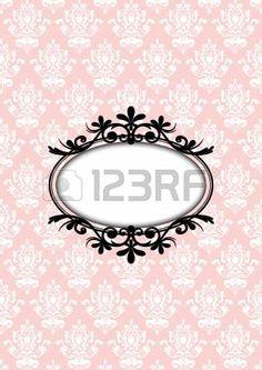 principessa vintage: illustrazione della cornice d'epoca rosa Vettoriali