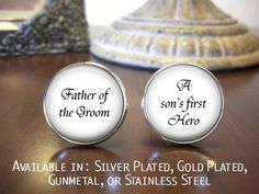 Father of the Groom Cufflinks Personalized by NowThatsCharming