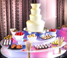 White Chocolate Fountain! Perfect for a wedding or event