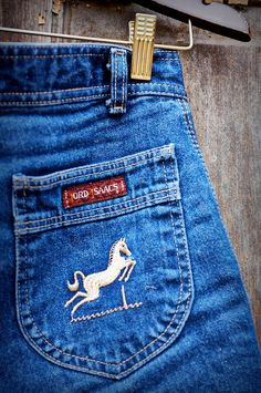 Vintage High-Waisted Rider Shorts with Horse Emblem by Lord Isaacs Equestrian on Etsy, $18.00