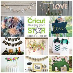 Our floral diy photo booth backdrop made it into the @Cricut design space star top 10 and so did two of our teammates! Voting starts today! http://bit.ly/10erqGK