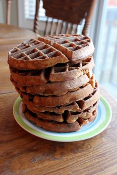 Gluten Free Waffles.  My girls love these.  They lack any sweetness, so I have to give them syrup with them, but I think they like that better than when I was just giving them waffles without any topping.
