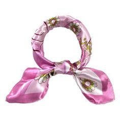 Shawls And Scarves Women Silk Small Square Wrap Flower Floral Printed Stewardess Scarf Fulares Mujer #2919