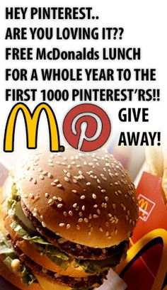 McDonalds Are Giving Away FREE Meals! Click Here To Get Yours: http://bit.ly/IyQDzE?1