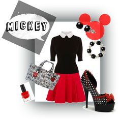 My very first outfit with polyvore.   Inspired by my upcoming trip to Disney