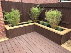 What can I do with my leftover decking? Wpc Decking, Decking Area, Composite Decking, Decking Boards, Deck Planter Boxes, Deck Planters, Trek Deck, Deck Design, Patio