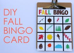 Outdoor with the Kids: DIY Fall Bingo (a Silhouette project) - Momtastic