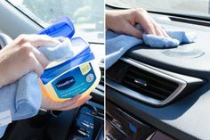 Nettoyez votre tableau de bord avec la vaseline.
