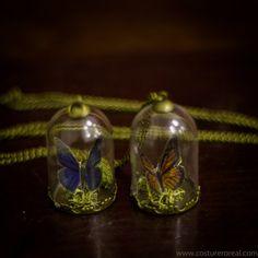 Monarch butterfly pendant terrarium bottle vial by CostureroReal, €18.90