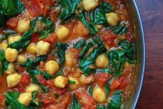 Spinach and Chickpea Curry. Spinach and Chickpea Curry Vegan Main Dishes, Veggie Side Dishes, Soup Recipes, Vegan Recipes, Dinner Recipes, Vegan Meals, Curry Recipes, Delicious Recipes, Vegan Vegetarian
