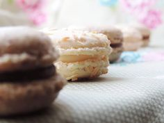 Coconut  hazelnut macrons. Delicious and perfect for any occasion.  - Candy Bar by Tereza  Tereza, Oslo.
