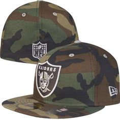Oakland Raiders New Era NFL Camouflage Pop Logo 59Fifty Fitted Hat
