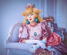 Cosplay Games, Mario Cosplay, Video Game Cosplay, Cute Cosplay, Cosplay Costumes, Cosplay Ideas, Princess Peach Costume, Mario Fan Art, Princesa Peach