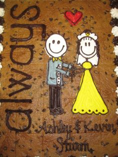 Wedding Cookie Cake made by Great American Cookies. What a fabulous idea.also cute for bridal shower. Can be pre-cut for easy serving. Army Wedding, Fall Wedding, Wedding Dreams, Dream Wedding, American Cookie, Cookie Cakes, Bridal Shower, Baby Shower, Cookie Bouquet