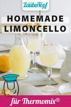 Homemade Limoncello, Cake & Co, Snacks Für Party, Beverages, Drinks, Recipe For Mom, Glass Of Milk, Easy Meals, Cocktails