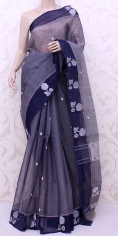 Bengal Handloom Tant Saree (W/B-Cotton) 13060