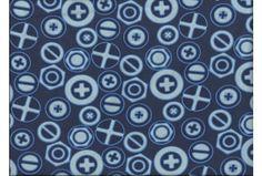 Jersey plus minus Kreise verschiedene Blautöne