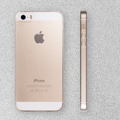 Ultra Thin TPU Soft Transparent Case for iPhone 5 S 5S SE Cover Coque Screen Film for iPhone5S 5SE Gold Slim
