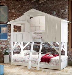 ¿Que niñ@ no ha soñado con una cama así, que le recuerda una casita en el árbol? Yo sí