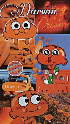 Darwinnn - Best of Wallpapers for Andriod and ios Cartoon Wallpaper Iphone, Iphone Wallpaper Tumblr Aesthetic, Cute Disney Wallpaper, Aesthetic Pastel Wallpaper, Cute Cartoon Wallpapers, Aesthetic Wallpapers, Phone Wallpapers, Orange Wallpaper, Mood Wallpaper