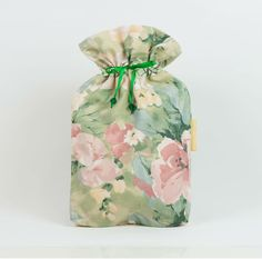 Diaper pouch with watercolour floral pattern: by MoonlightCompany