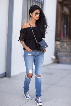 25 Ways to Wear Converse Sneakers   StyleCaster