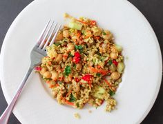 Curried Quinoa Salad with Lentils and Brown Rice - Packed with grains, veggies and a spicy-sweet dressing. Mmmmmmm ...