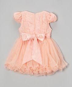 Loving this Pink & White Pearl Flower A-Line Dress - Toddler & Girls on #zulily! #zulilyfinds