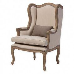 Revive a French style of charm with the Baxton Studio Orielle Upholstered Armchair. This gorgeous armchair features a vintage styled wooden frame and neutral cotton upholstery. Heirloom quality, this armchair brings a stately look to your décor. French Country Chairs, French Chairs, Living Room Chairs, Living Room Furniture, Dining Chairs, Furniture Chairs, Dining Room, Furniture Movers, Upholstered Furniture