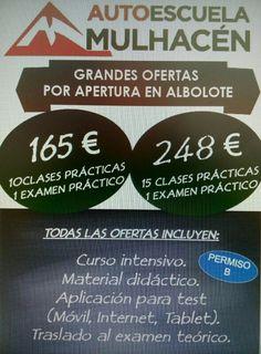 Granada, Clase de práctica de autoescuela gratis Pepe +34622302424: A los que vengan de parte de Extragrupo o de Mario +34 616453927 o Los Soles, Amalgama o Fiesteros  le regalamos una clase práctica.  Autoescuela Mulhacén. Autoescuela barata en Albolote. Auto escuela Mulhacen - http://www.autoescuelamulhacen.es/  Saber más eventos en Granada https//www.facebook.com/groups/extragrupoabierto/ Email info@extragrupo.org  Mario WhatsApp +34 616453927