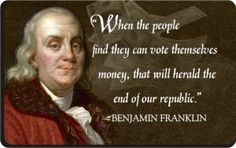 Famous Quotes by Benjamin Franklin | Ben Franklin Patriotic Quote Magnet - Money Quote