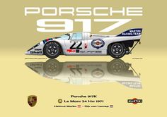 Print on Canvas Martini Porsche 1971 Marko / van Lennep Yell. Rallye Automobile, 24h Le Mans, Martini Racing, Custom Hot Wheels, Motorcycle Design, Porsche Cars, Formula 1, Supercars, Cars And Motorcycles