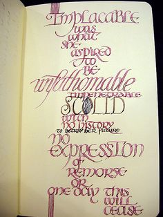 Implacable  #type, #typography, #calligraphy, #lettering