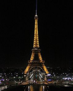 The Eiffel Tower at Night Paris France 16x20 Photo by JWPhoto, $31.00