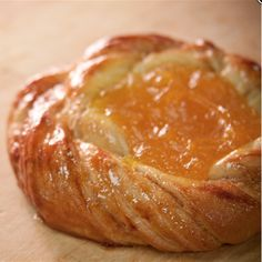 Have a sweet start to your day with an apricot danish.