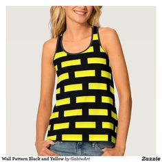Wall Pattern Black and Yellow Tank Top