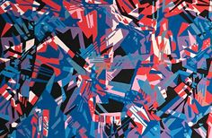 Mess 3, 2013 Ink marker on canvas | 39,37 x 19,6 in  Caneta marcadora sobre tela | 100 x 50 cm #arte #art #artwork #brazilianart