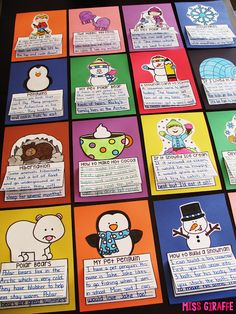 January writing is a ton of fun - penguins, polar bears, and snow - oh my! :) So it& just not winter without learning about penguins. First Grade Activities, Writing Activities, Writing Ideas, Teaching Resources, Primary Teaching, Teaching Ideas, Second Grade Writing, Writing Genres, Winter Bulletin Boards