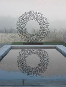 Strijdom van der Merwe. Steel circle. South Africa.
