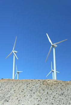 Windmills and clear skies to brighten your day.