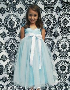 This in teal and ivory would be so cute. Custom Order for Daniela . Princess Tutu by OliviaKateCouture
