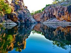 Gunlom pools in Kakadu National Park, Northern Territory, Australia Kakadu National Park, National Parks, City Slickers, Camping Spots, Plunge Pool, Concrete Jungle, Countries Of The World, Australia Travel, Dream Vacations