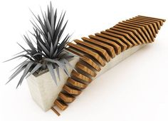 Urban Bench with a Planter by Juampi Sammartino http://owl.li/w97BL http://ift.tt/1mOkeaW