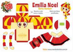 Boneco de papel da Emília - Especial de #natal