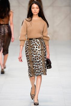 London, catwalk, runway show, review, critic, fall winter 2013, burberry owl flats