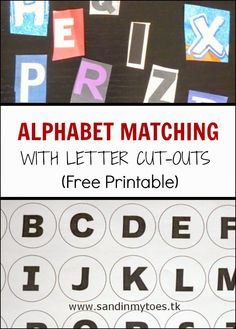 An alphabet identification and matching activity for toddlers and preschoolers with free printable.