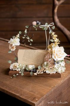 Gifts wrapping diy wedding 33 ideas for 2019 Ring Holder Wedding, Ring Pillow Wedding, Deco Floral, Floral Design, Design Design, Interior Design, Flower Decorations, Wedding Decorations, House Decorations