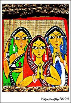 Beautiful Folk Art Of Bengal - Magra, West Bengal